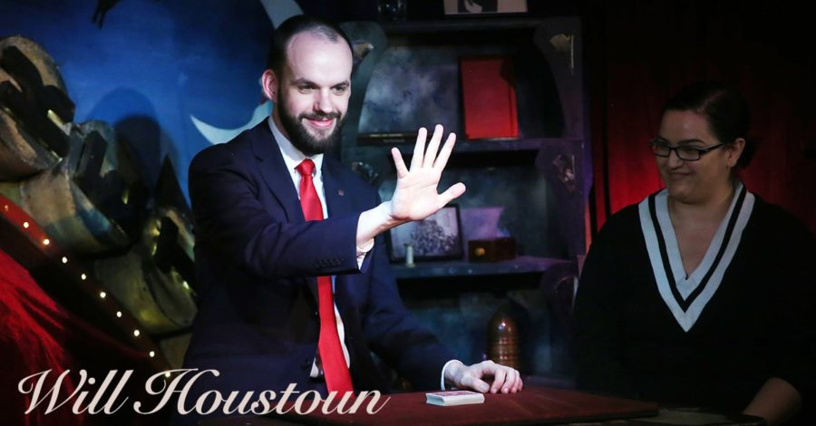 Will Houstoun performs card tricks
